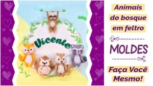 Read more about the article Moldes de animais do bosque para imprimir