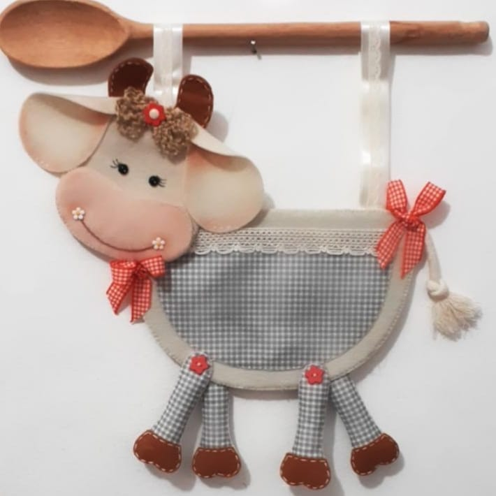 porta objetos de vaca