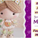 Molde de boneca jardim encantado de feltro