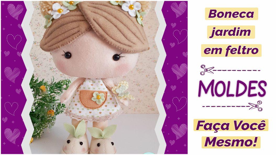 Read more about the article Molde de boneca jardim encantado de feltro